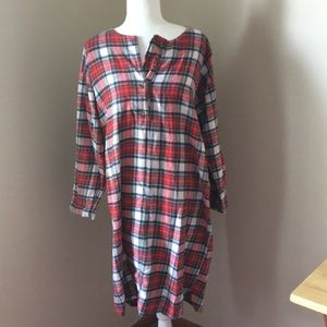Red plaid flannel Nightgown